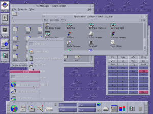 SUN Solaris OS graphical user interface