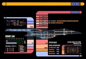 Star Trek (TNG) LCARS GUI.